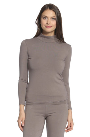 Beyond the Basics Mock Neck Top - Earth Tones