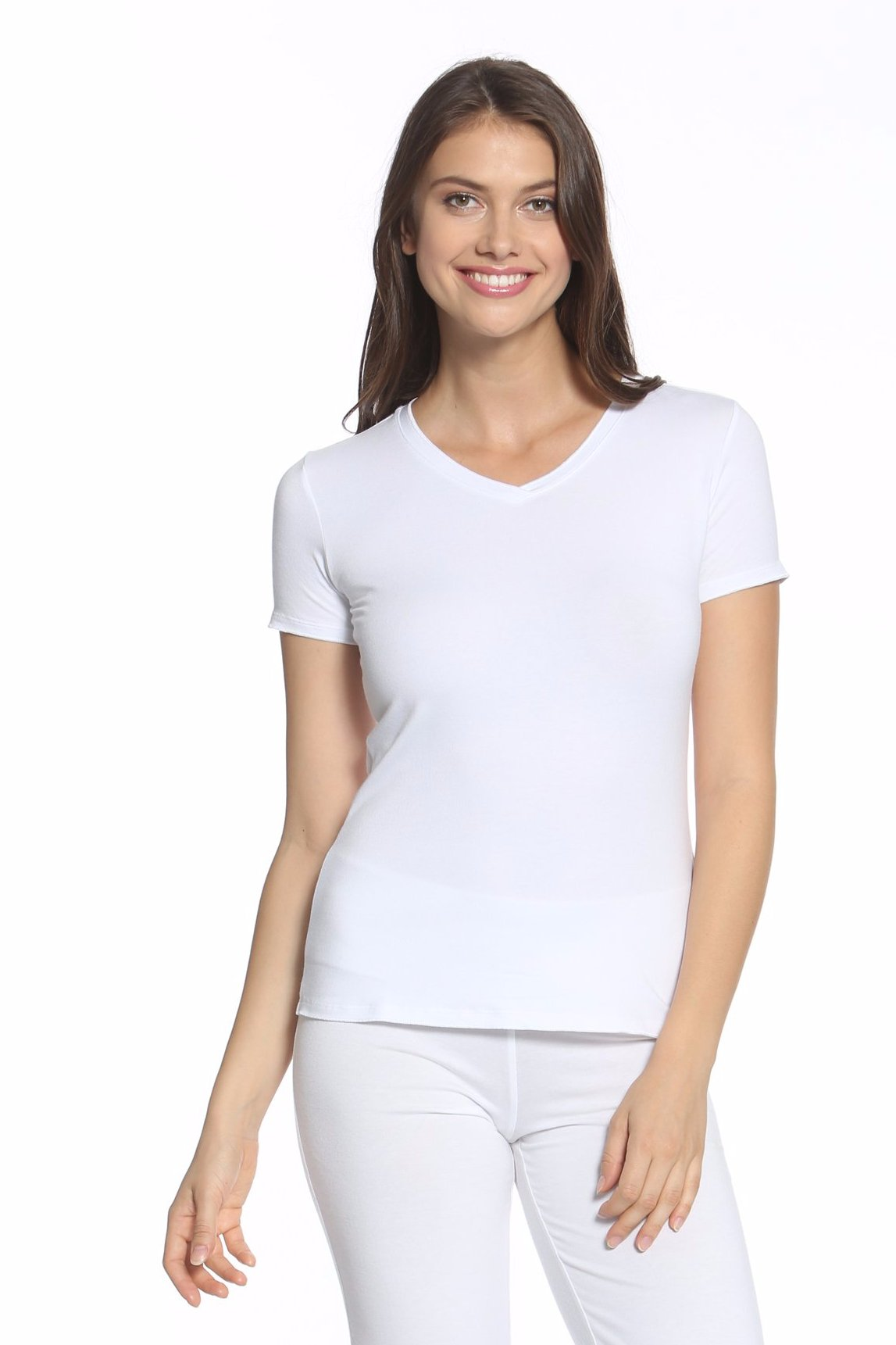 Beyond the Basics Short Sleeve V Neck Top - Basic Colors