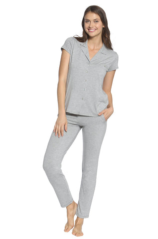 Milan Double V Neck Tank Camisole Loungewear Set- Sales Rack