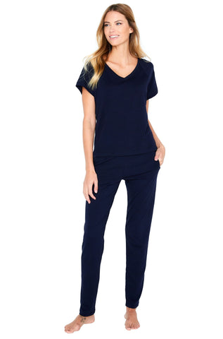 Brenda Relaxed Short Sleeve Raglan Pant Loungewear Set