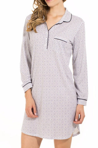 Cersei Long Sleeve Pullover Nightshirt - Sales Rack