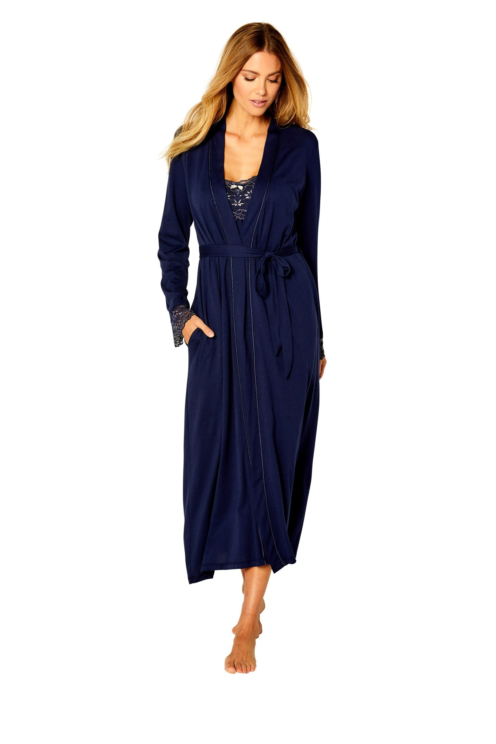 Coco Tank Long Gown Robe Set - Sales Rack