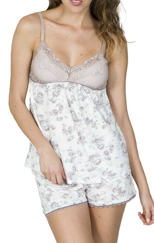 Double Spaghetti Camisole PJ Boxer Tap Set - Clearance