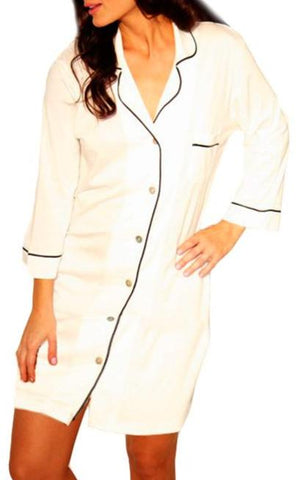 Christina 3/4 Sleeve Sleepshirt - Sales Rack