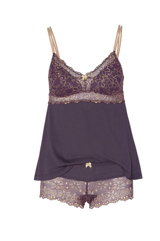 Johanna Double Spaghetti Strap Camisole, Hot Pants Tap Set