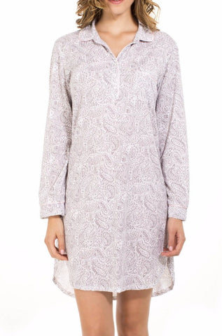Juliette Long Sleeve Pullover Nightshirt - Sales Rack