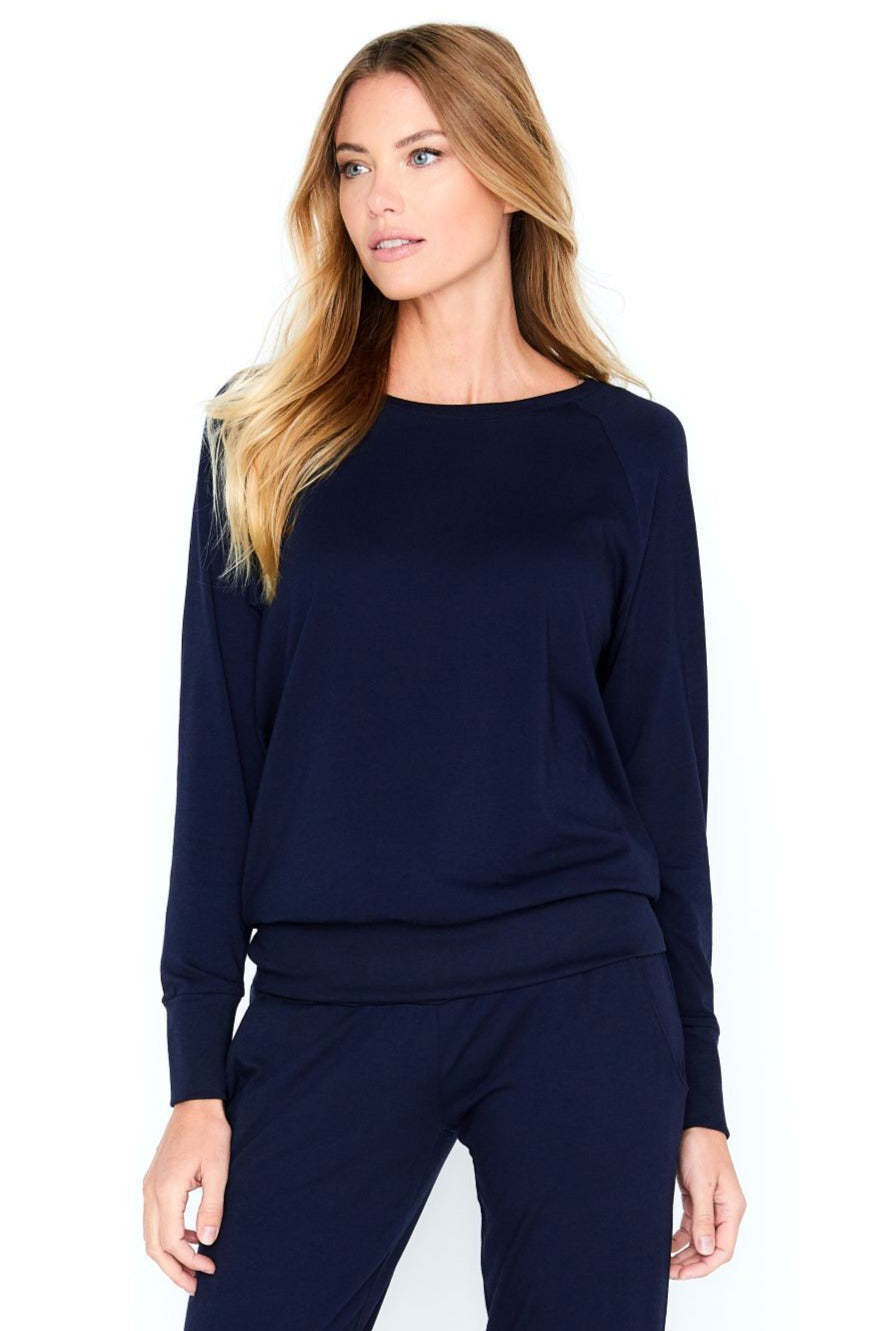 Laguna Long Sleeve Pull Over Top Jogger Loungewear Set - Basic Colors
