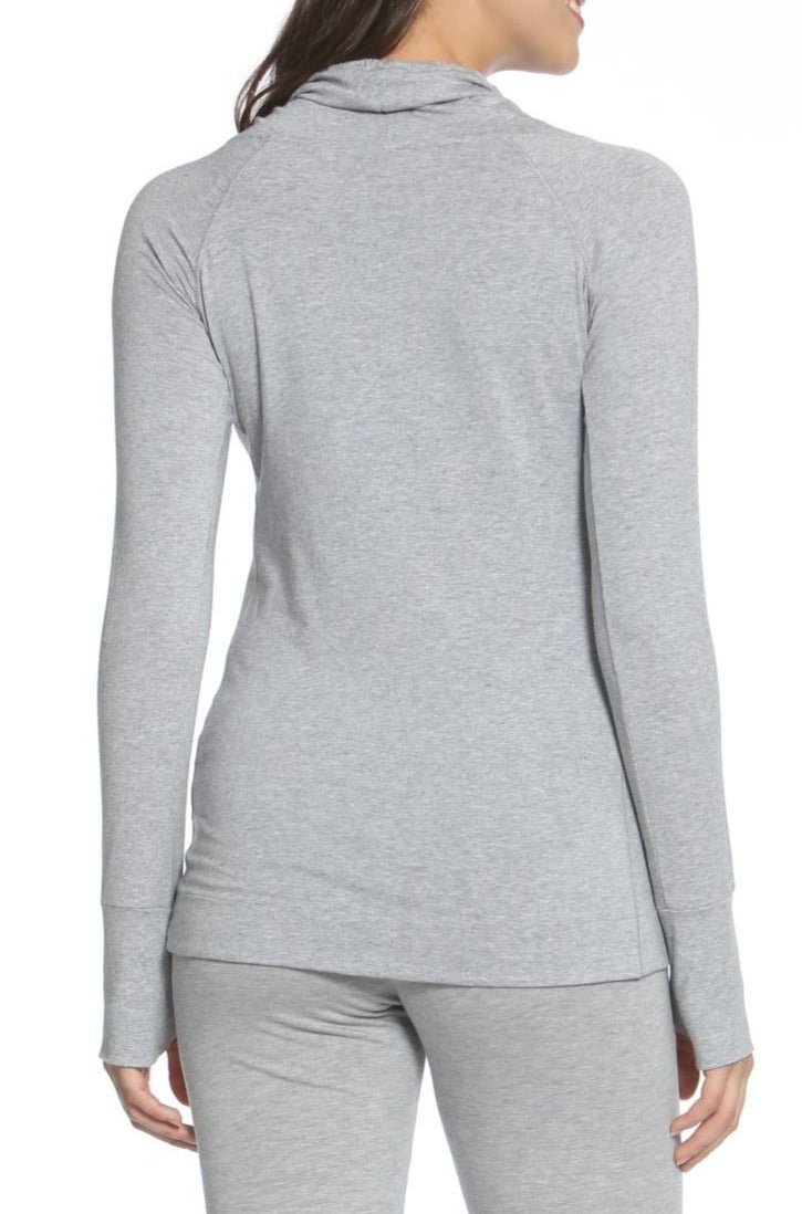 Laguna Long Sleeve Cowl Neck Pullover - Heather Fabric