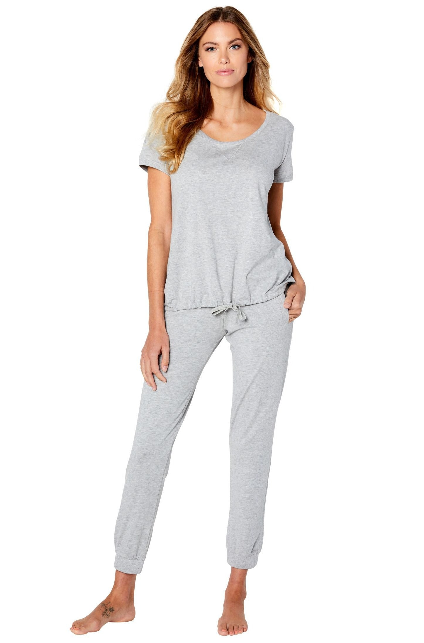 Malibu Relaxed Short Sleeve Top, Jogger Loungewear Set