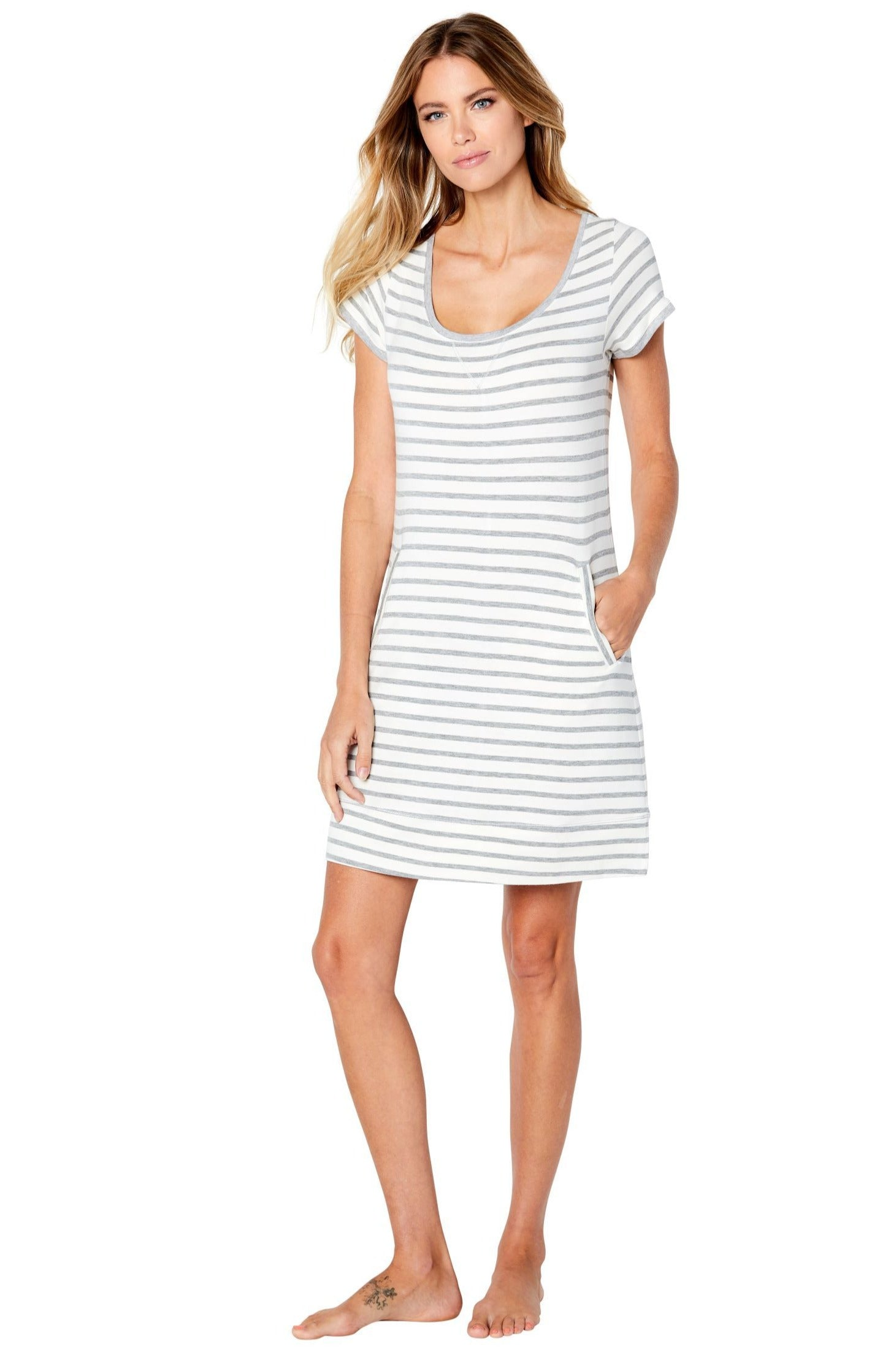 Malibu Short Sleeve Lounge Dress