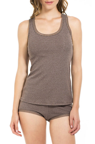 Olivia Ribbed Racerback Tank Camisole Tap Set - Sales Rack