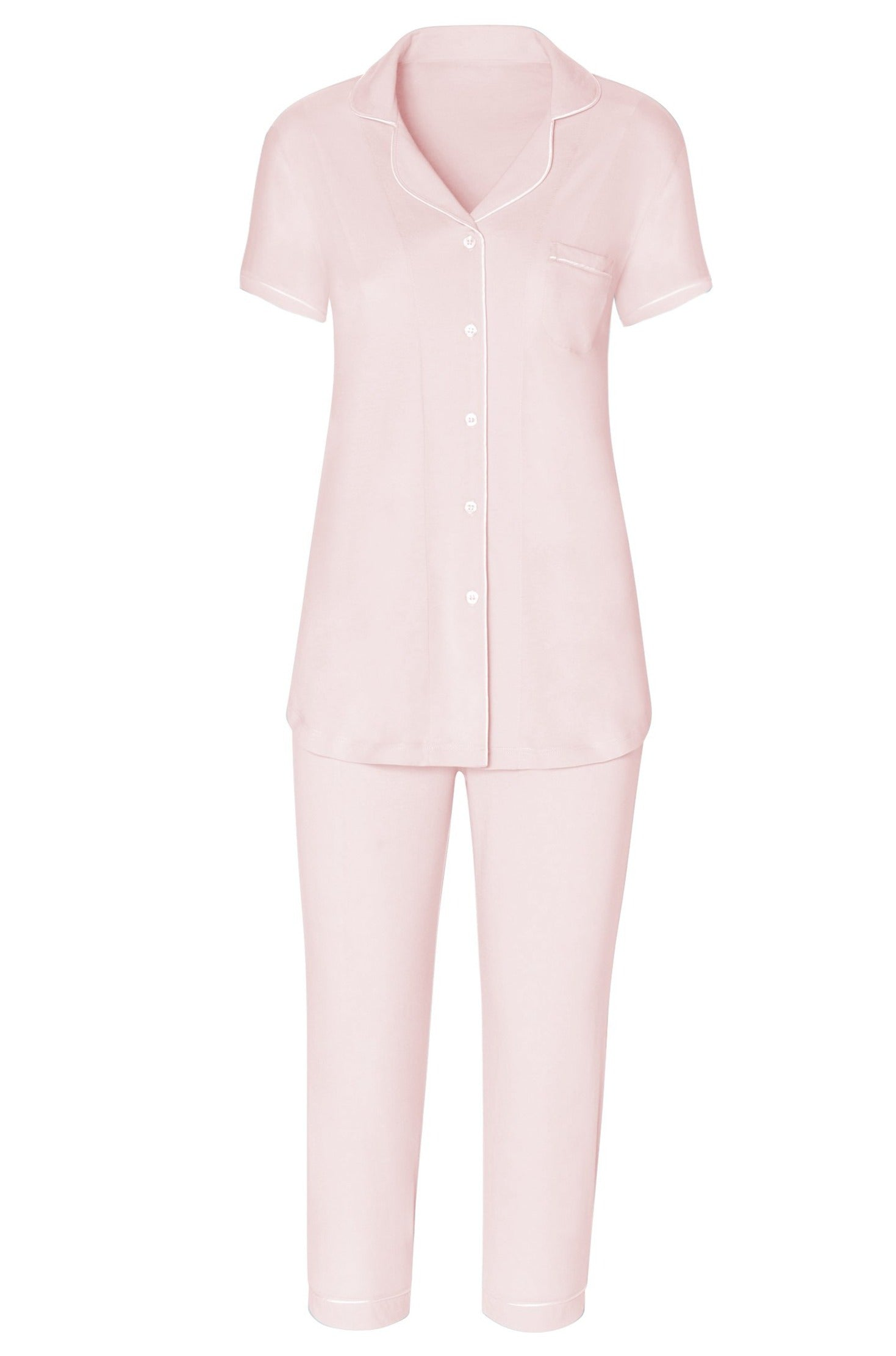 Paige Short Sleeve Cropped Pant Men's Styled PJ Set