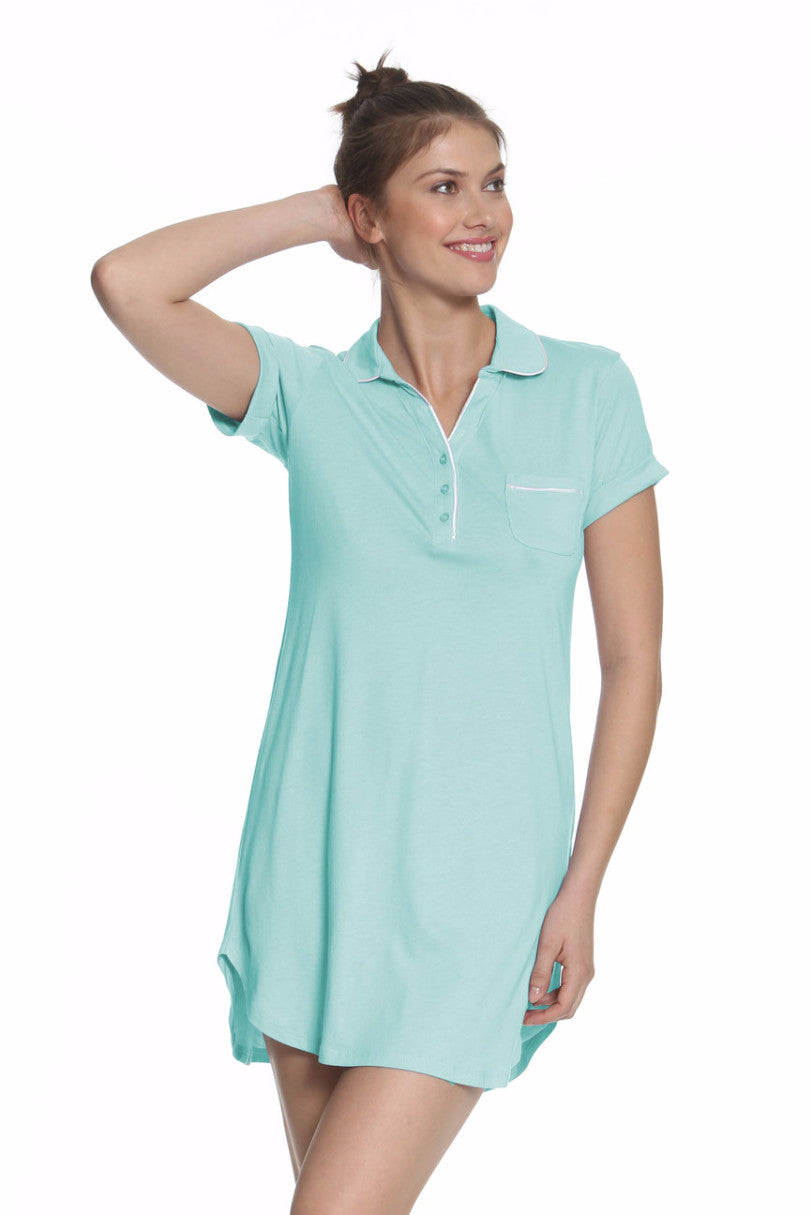 Paige Short Sleeve Pullover Nightshirt