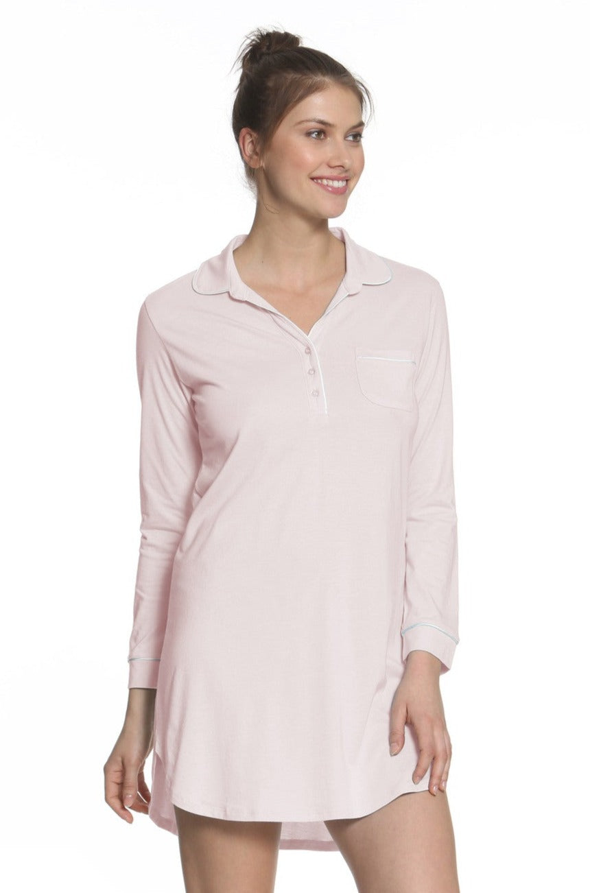 Paige Long Sleeve Pullover Nightshirt