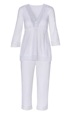 Sophie Basic 3/4 Sleeve Cropped Pant PJ Set