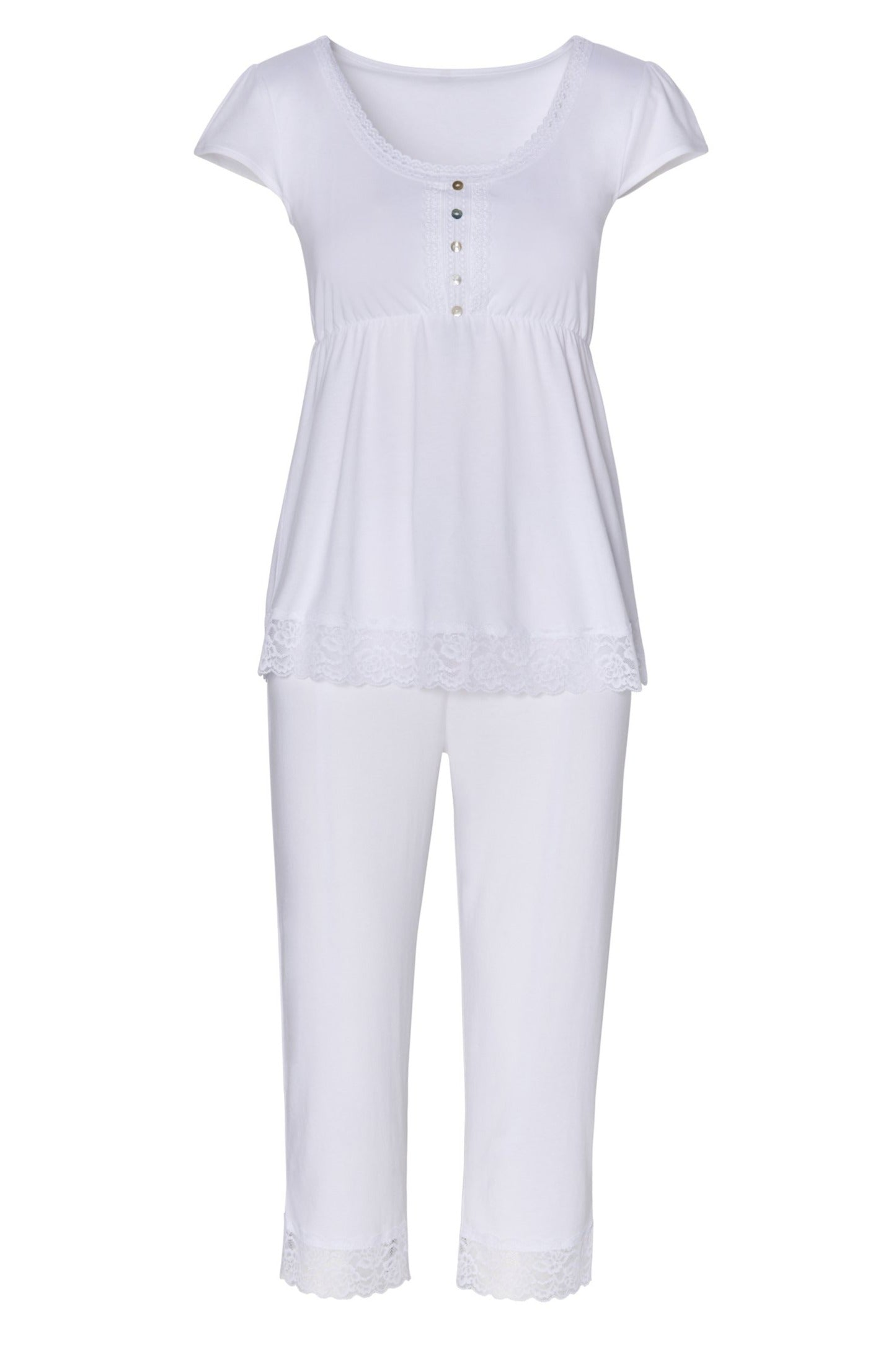 Sophie Basic Cap Sleeve Top Cropped Pant PJ Set - Sales Rack