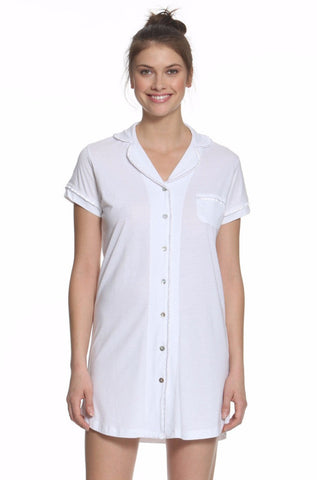 Sophie Basic Short Sleeve Men's Nightshirt