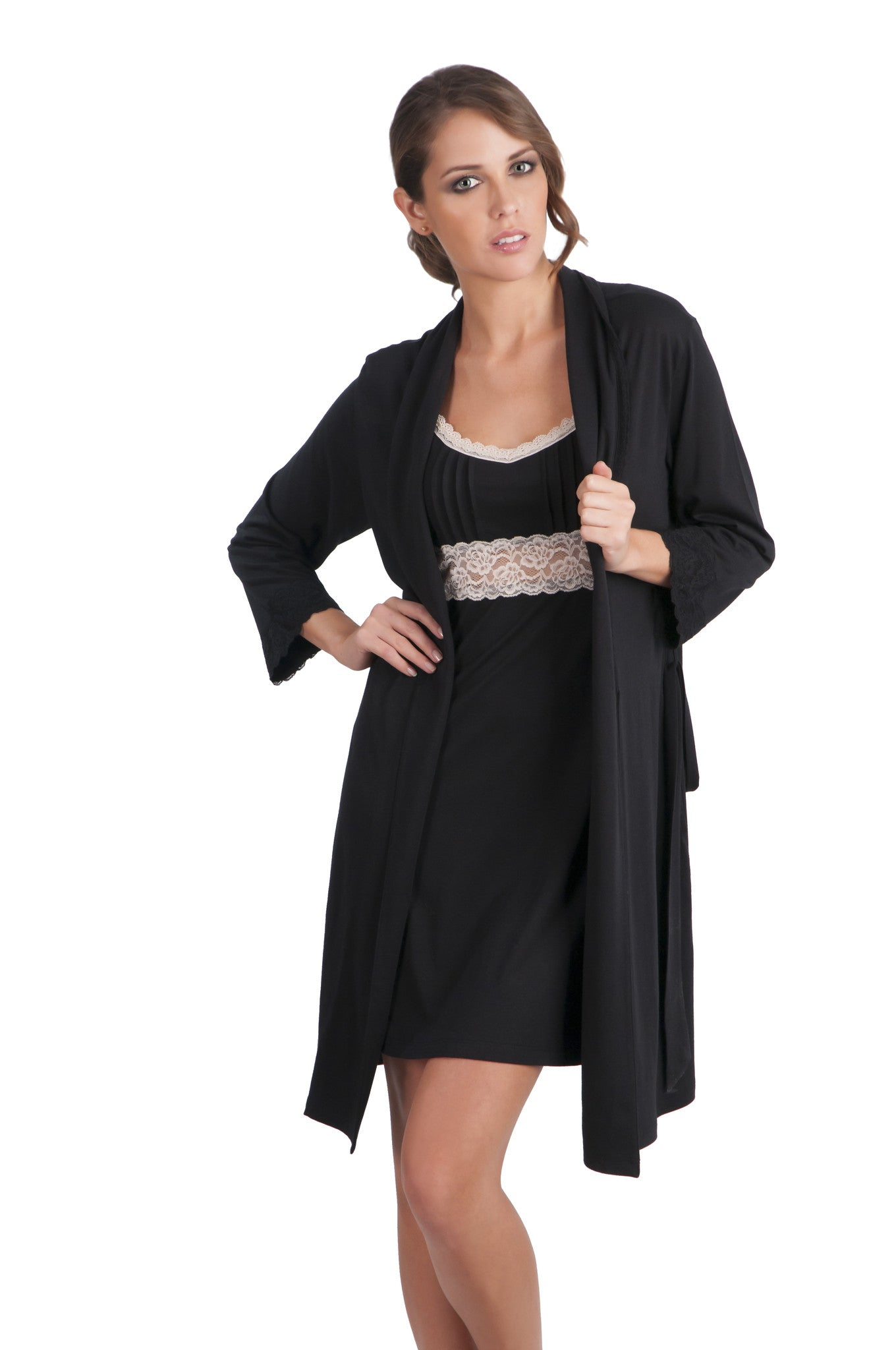 Sophie Basic 3/4 Sleeve Robe - Sales Rack