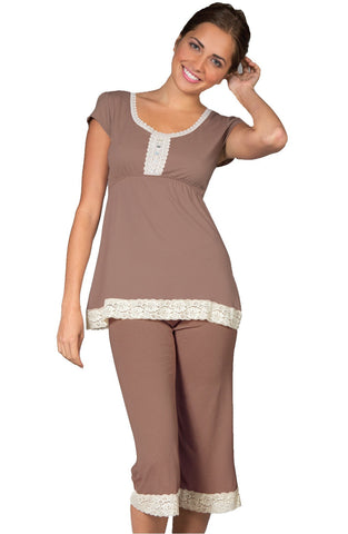 Amber Tank Top Full Length Pant PJ Set - Sales Rack