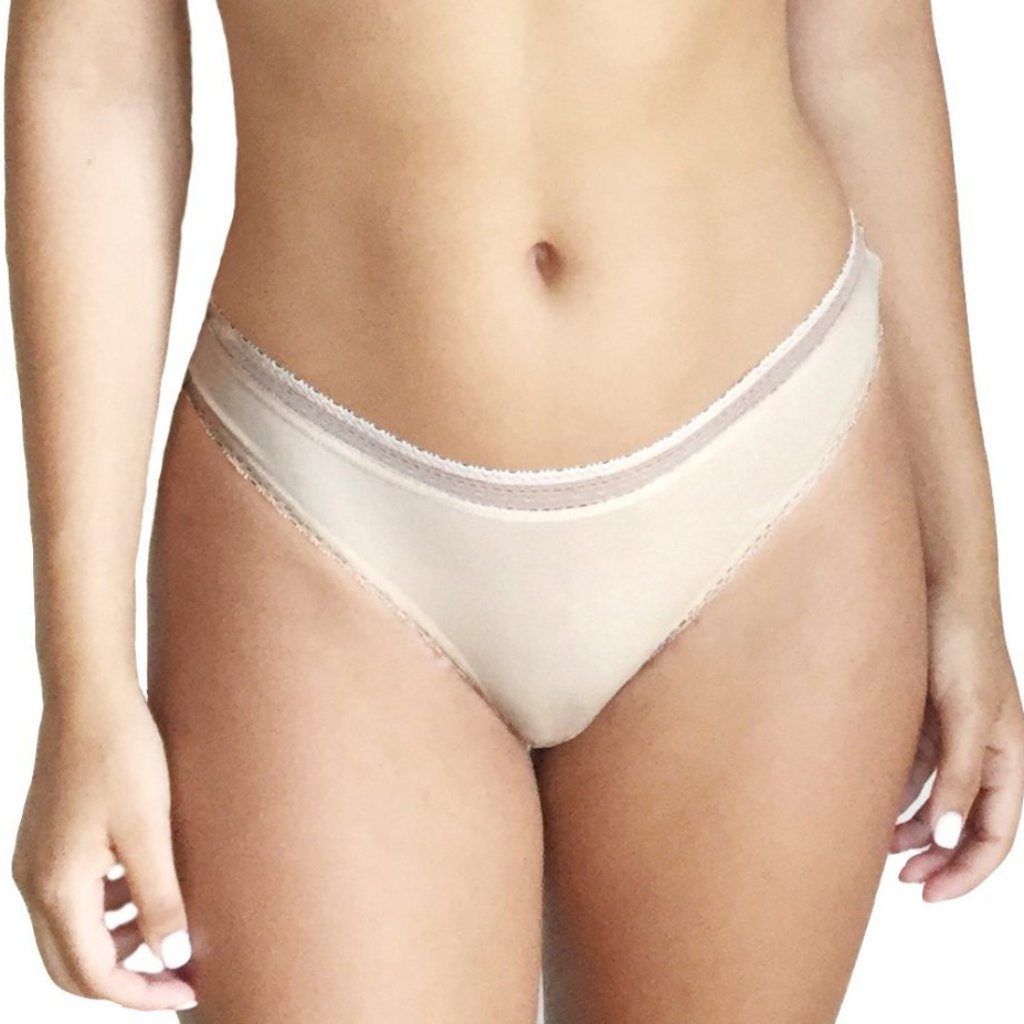 Serena Pima Cotton Lace Trim Thong