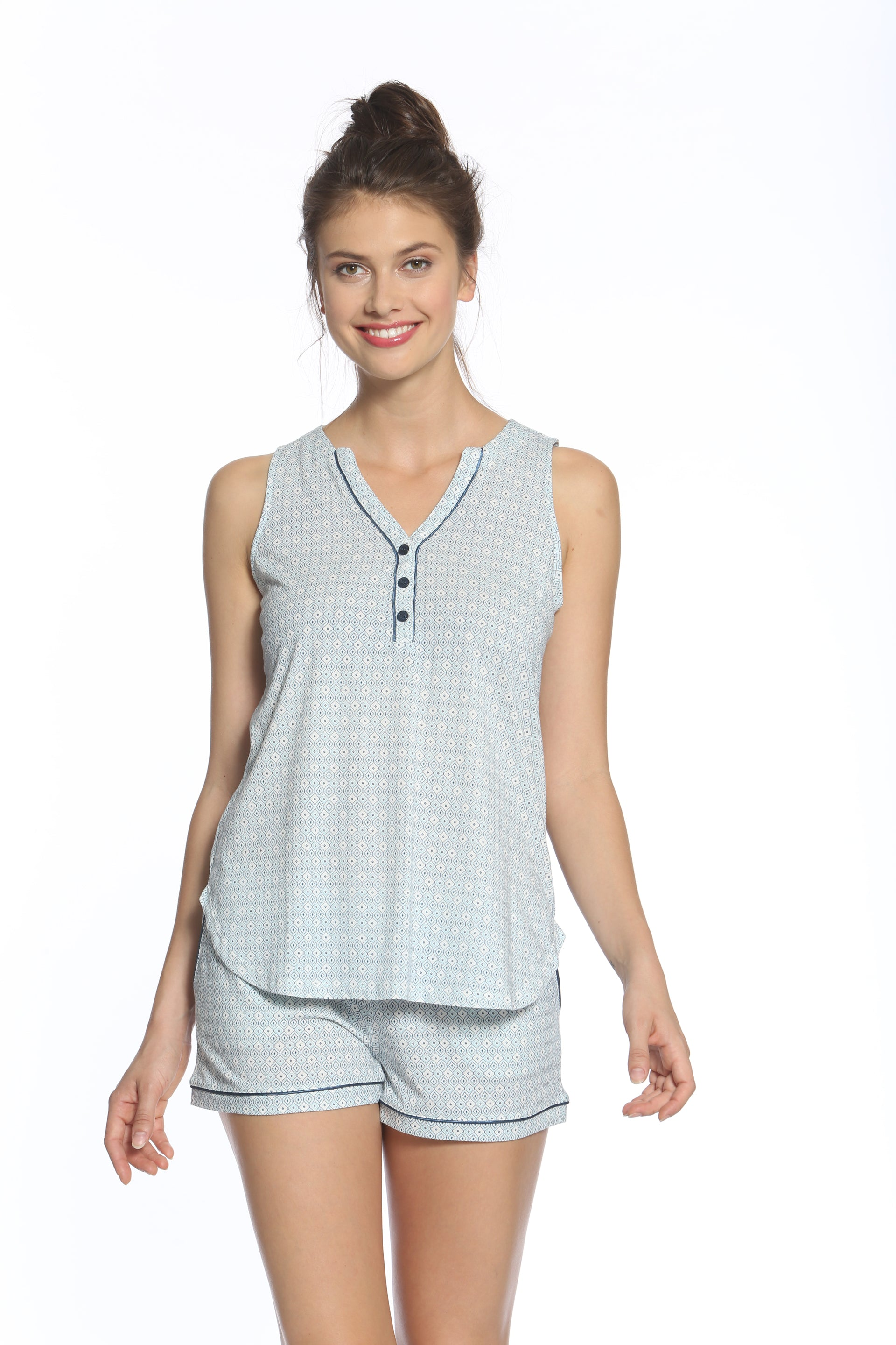 Valentina Sleeveless Tank Camisole , Boxer Tap Set - Sales Rack