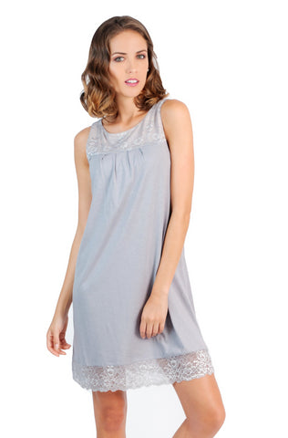 Jewel Neck Tank Chemise - Clearance