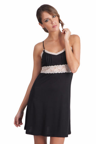 Milan Double V Neck Tank Chemise - Sales Rack