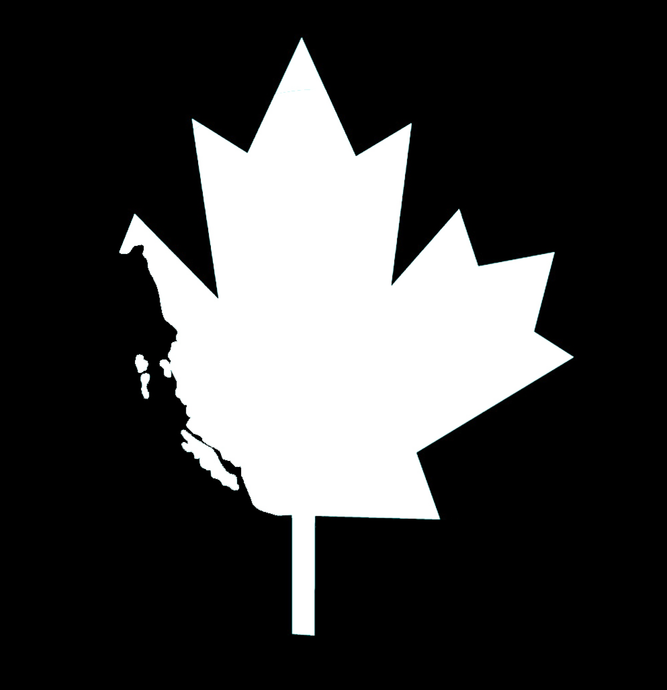 West Coast Maple Leaf Decal