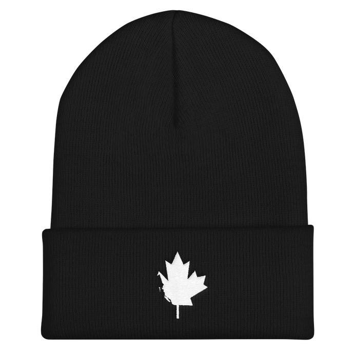WCBC Flag Cuffed Toque (black and red)