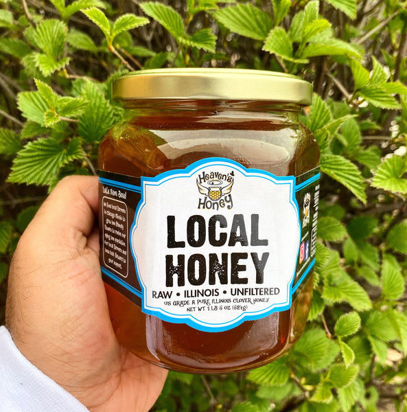 Local Chicago Honey - Large - Raw and Unfiltered