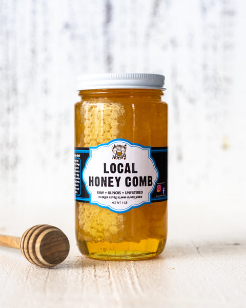 Local Chicago Honey with Honey Comb