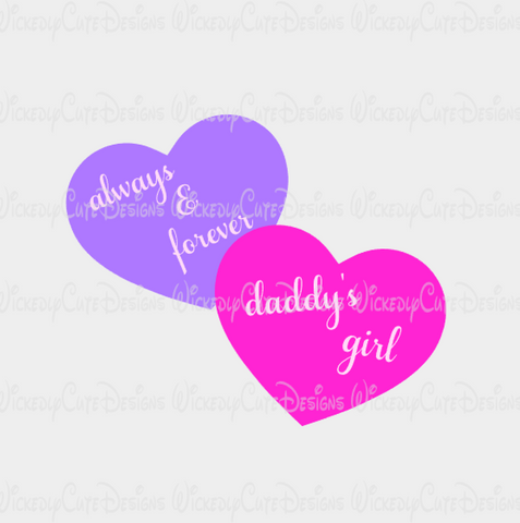 Always and Forever SVG, DXF, EPS, PNG Digital File