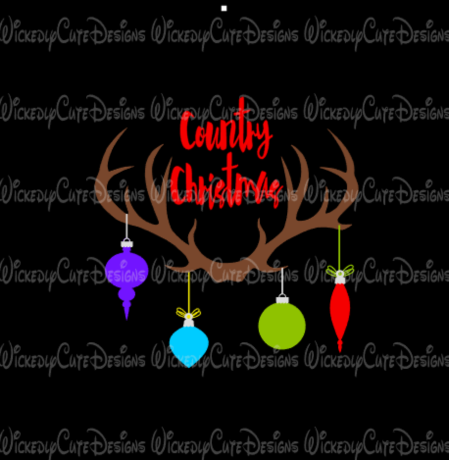 Antlers Country Christmas SVG, DXF, EPS, PNG Digital File