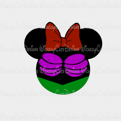 Ariel Mouse Head 2 SVG, DXF, EPS, PNG Digital File