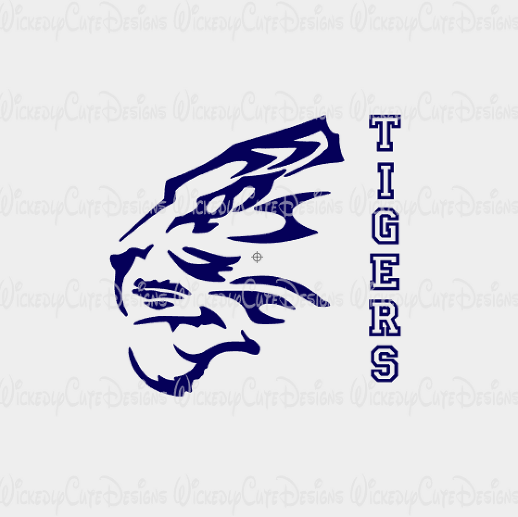 Auburn Tiger Silhouette SVG, DXF, EPS, PNG Digital File