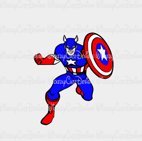Avengers Captain America SVG, DXF, EPS, PNG Digital File