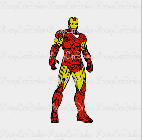 Avengers Ironman SVG, DXF, EPS, PNG Digital File