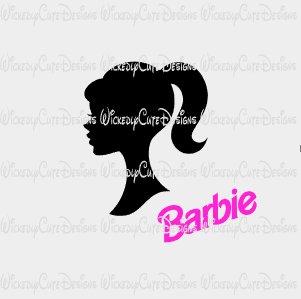 Barbie SVG, DXF, EPS, PNG Digital File