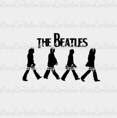 Beatles Abbey Road SVG, DXF, EPS, PNG Digital File