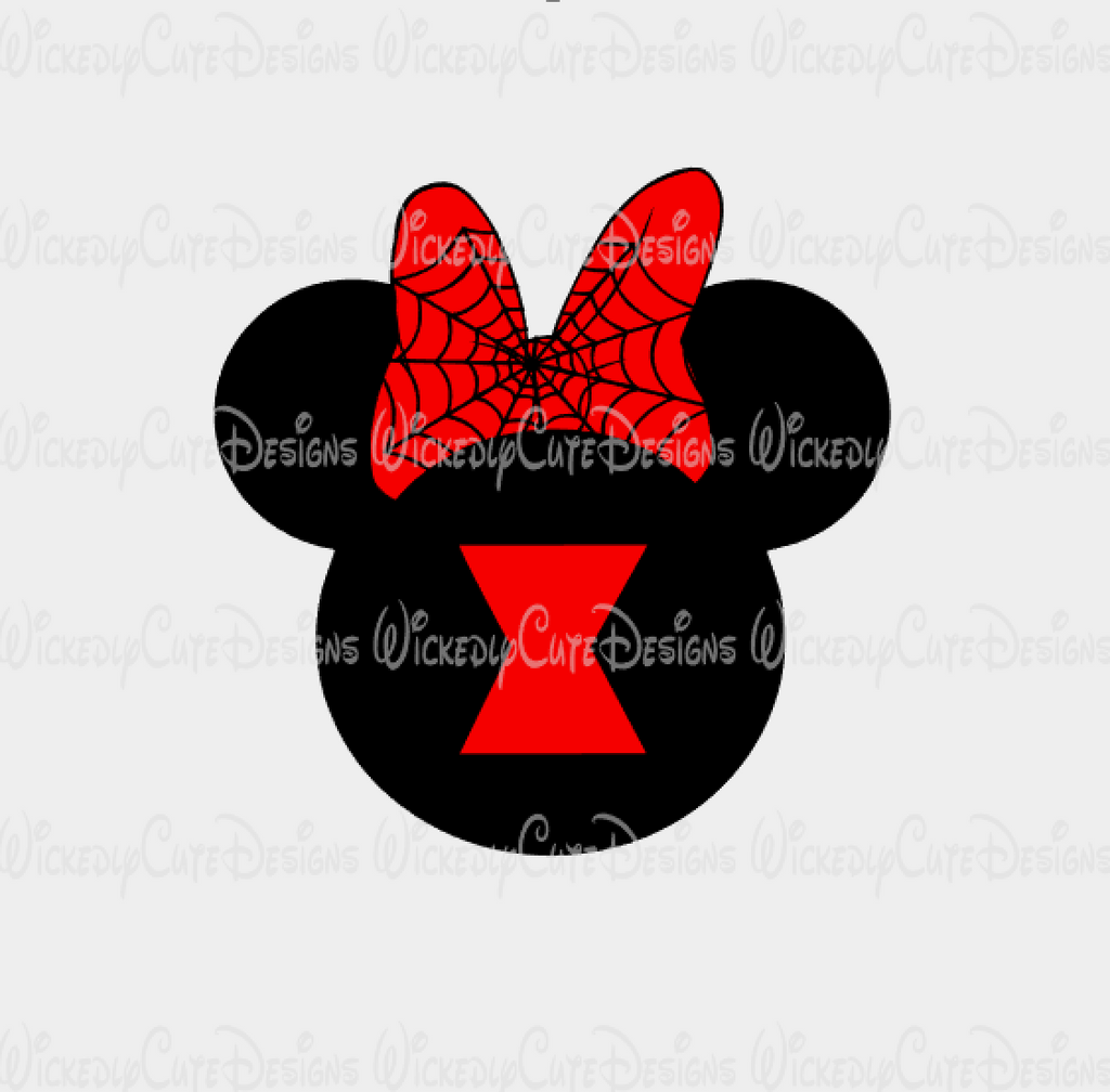 Black Widow Mouse Head SVG, DXF, EPS, PNG Digital File