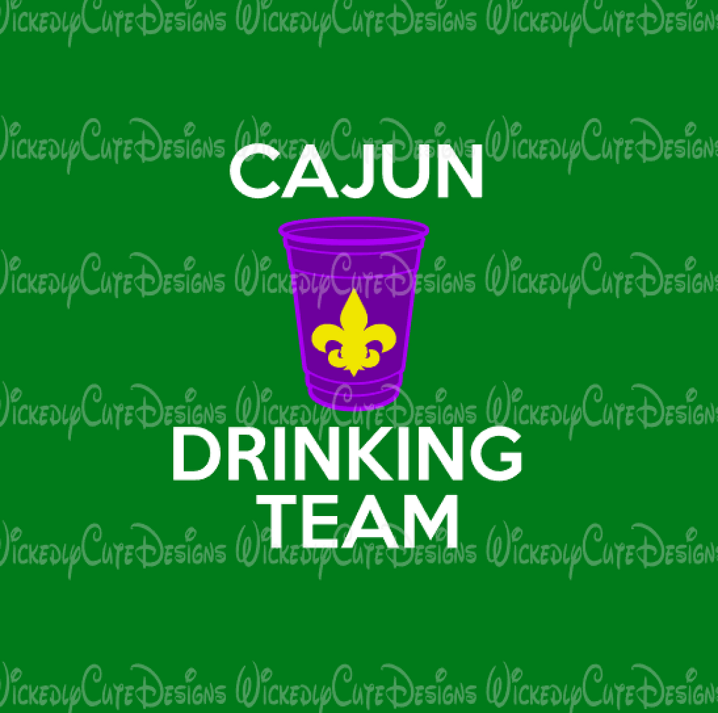 Cajun Drinking Team SVG, DXF, EPS, PNG Digital File