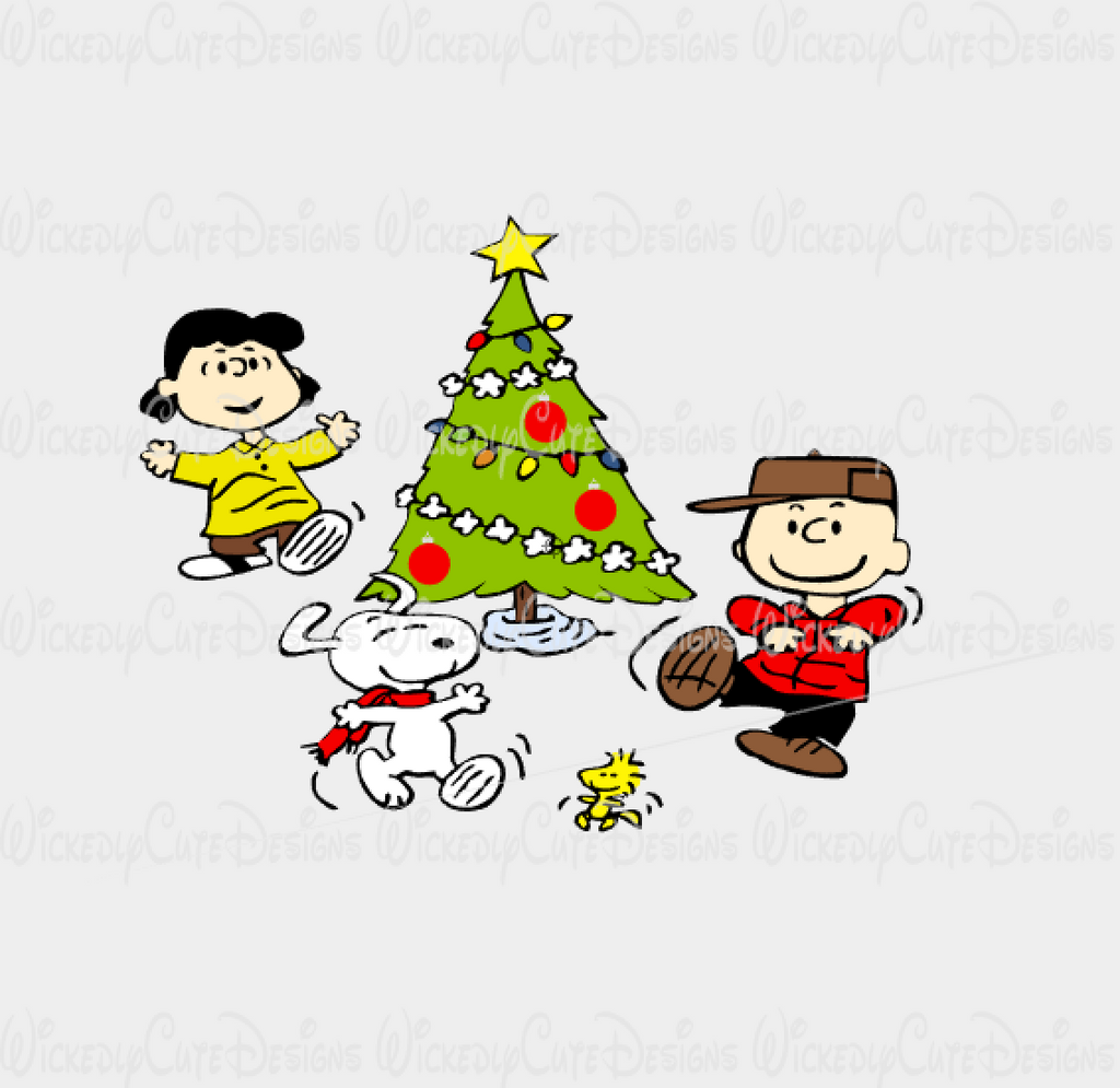 Charlie Brown Christmas Happy Dance SVG, DXF, EPS, PNG Digital File