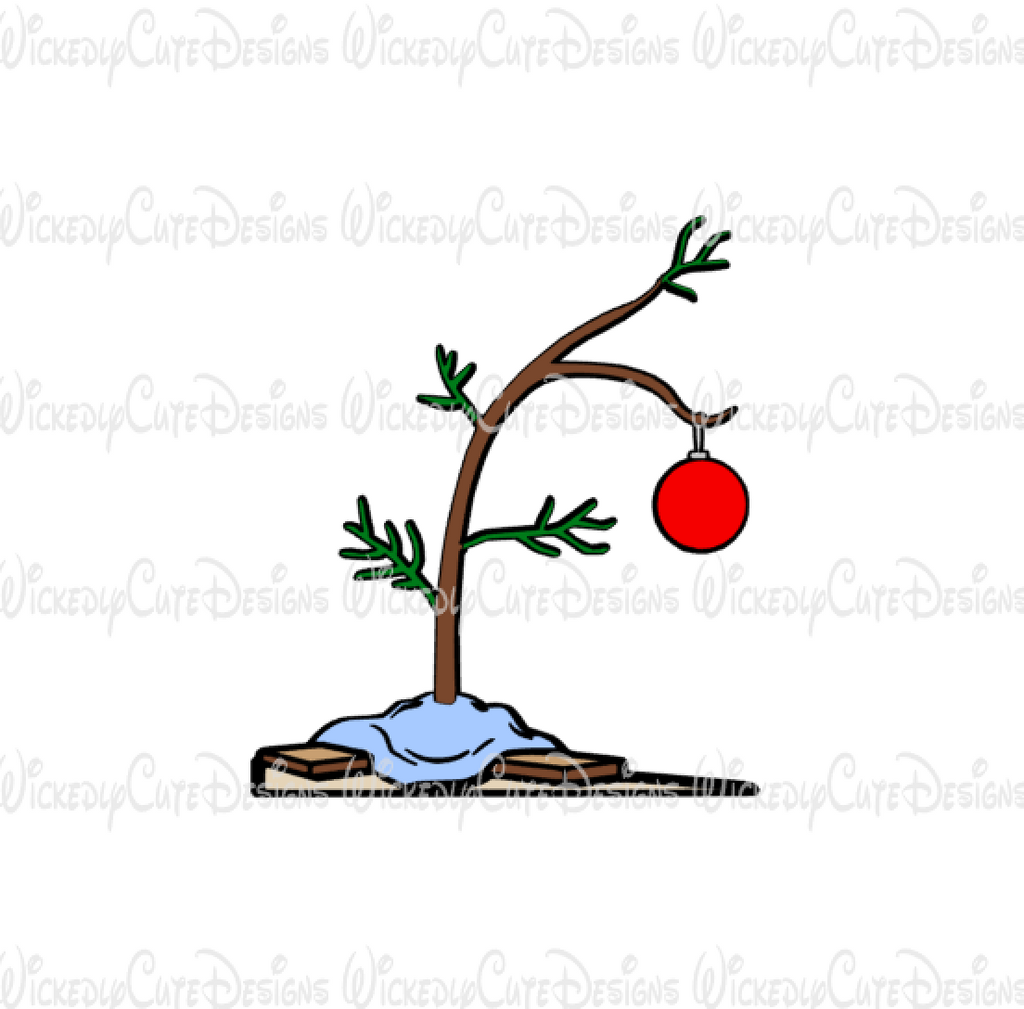 Charlie Brown Christmas Tree SVG, DXF, EPS, PNG Digital File