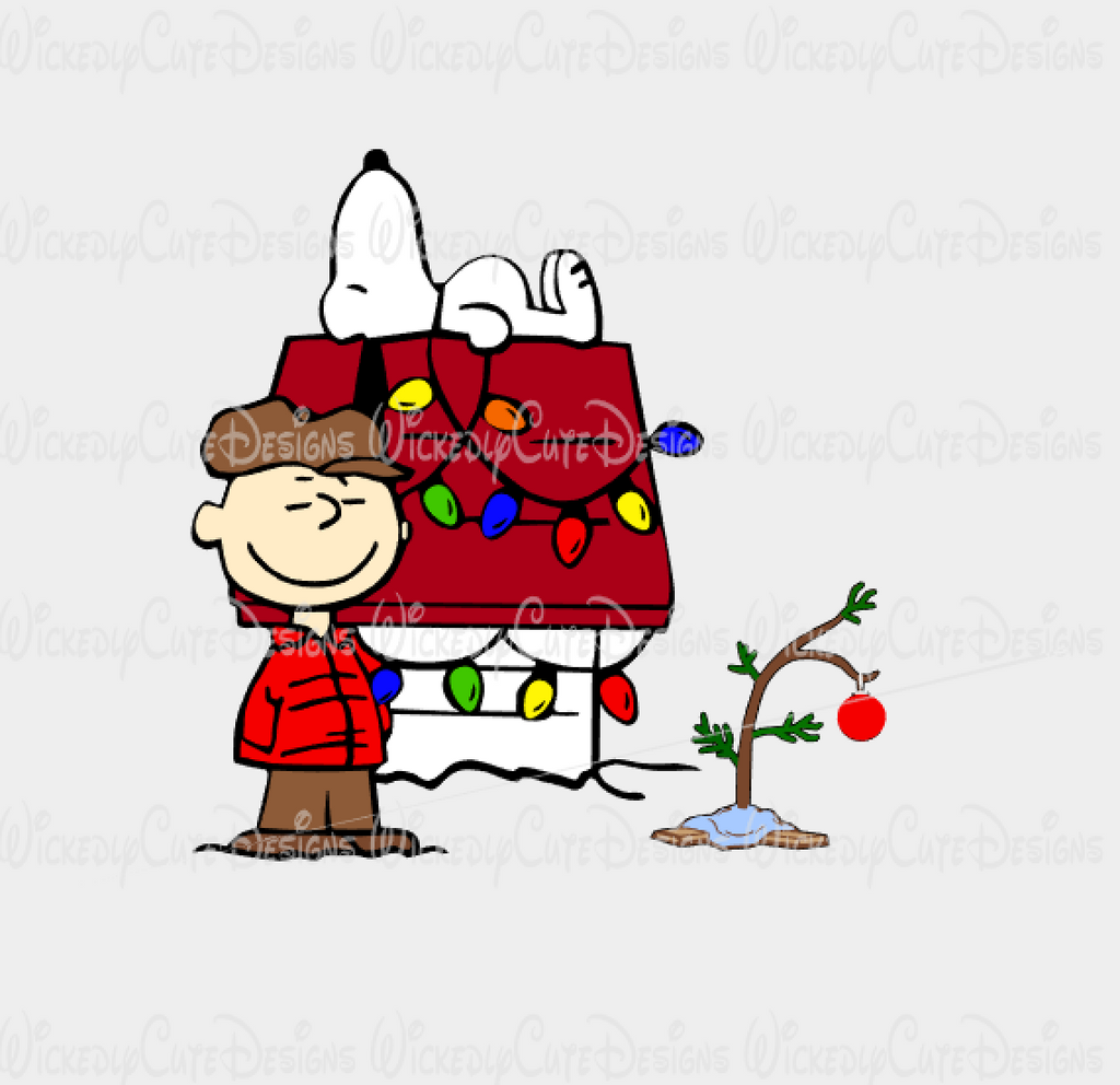 Charlie Brown and Snoopy Christmas SVG, DXF, EPS, PNG Digital File