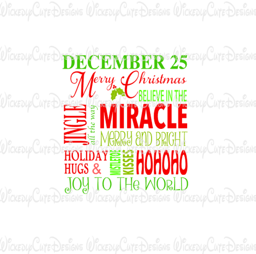 Christmas Quotes Svg.Christmas Quotes Svg Dxf Eps Png Digital File