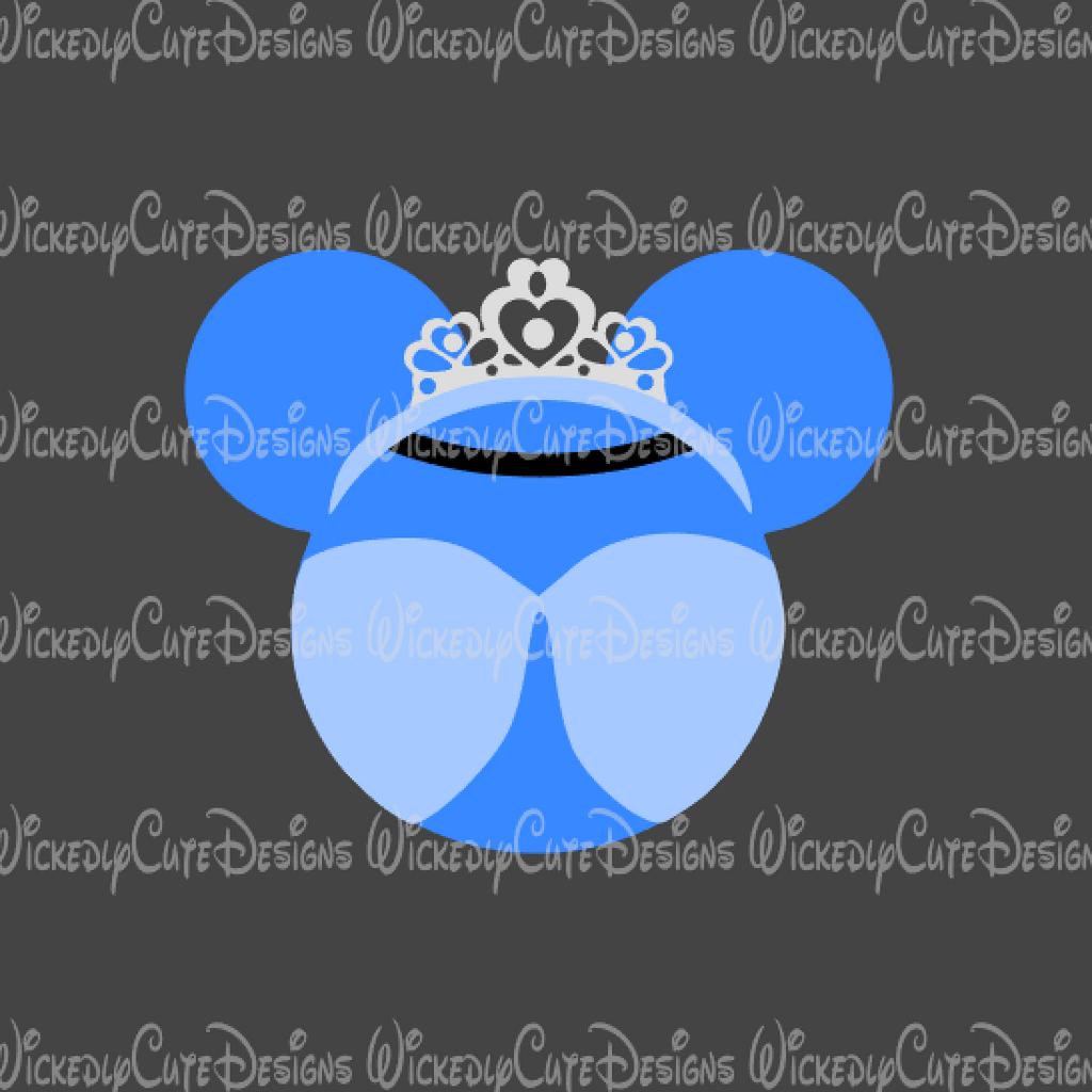 Cinderella Mouse Head SVG, DXF, EPS, PNG Digital File