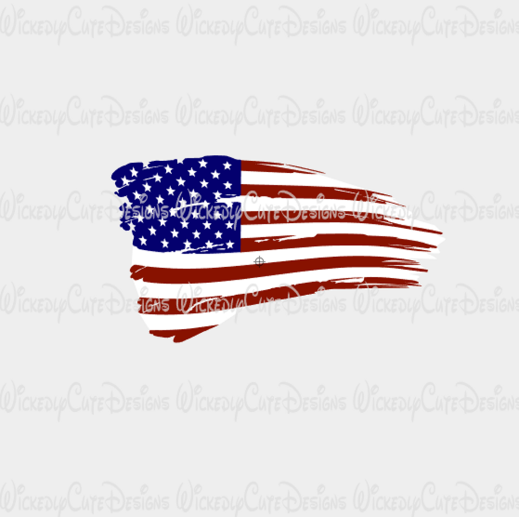 Distressed American Flag SVG, DXF, EPS, PNG Digital File