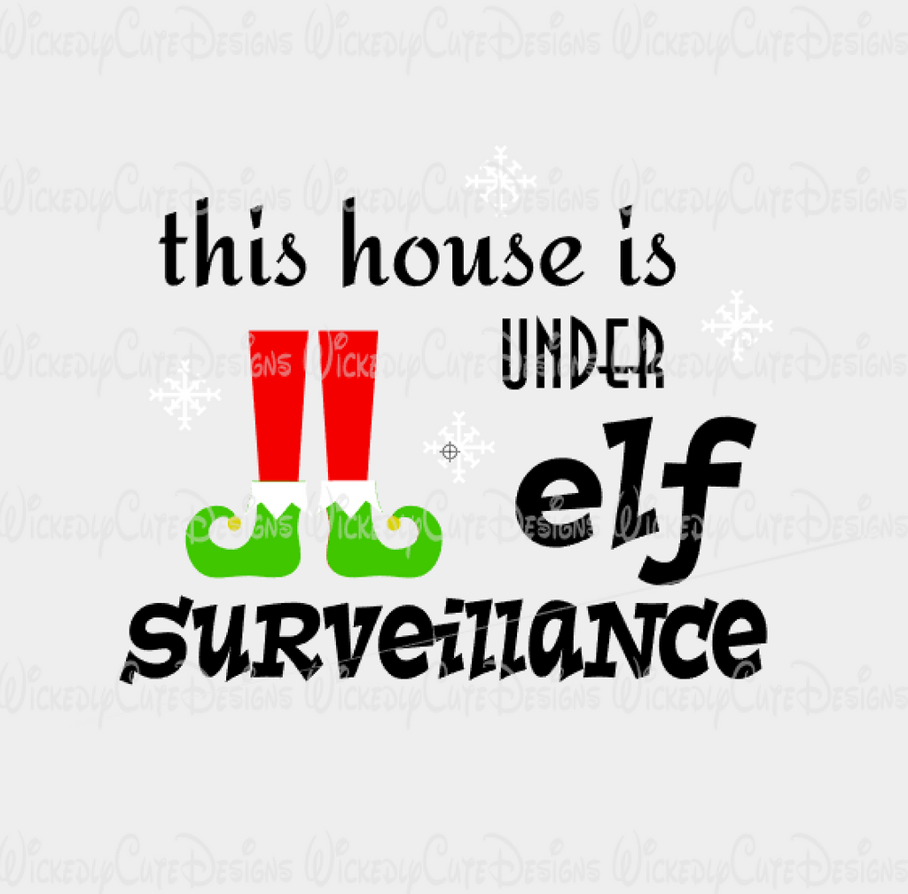 Elf Surveillance SVG, DXF, EPS, PNG Digital File