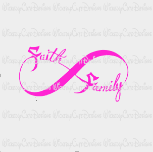 Faith Family Infinity SVG, DXF, EPS, PNG Digital File