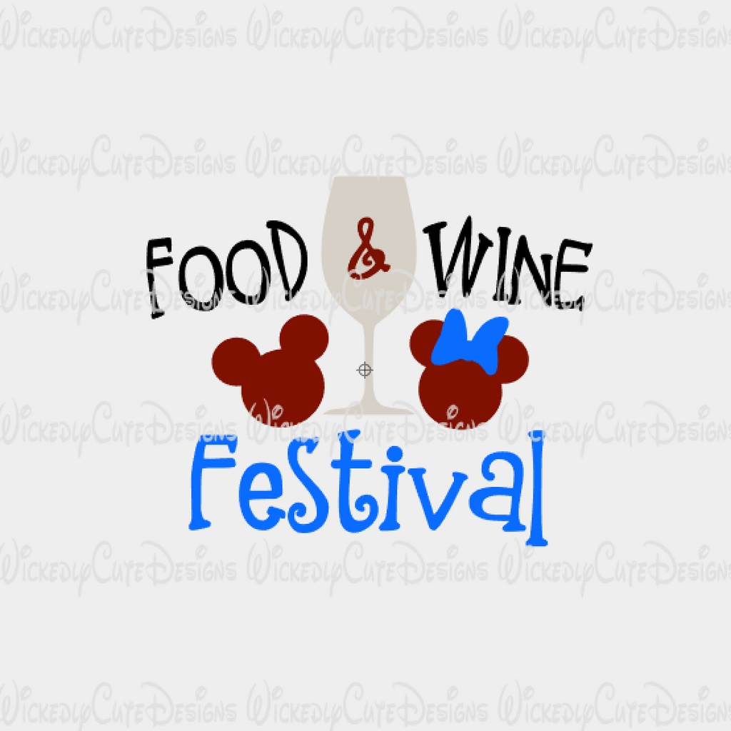 Food Wine Festival SVG, DXF, EPS, PNG Digital File